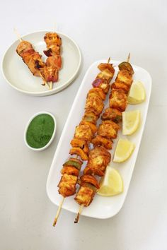 Paneer tikka recipe - yogurt and spice marinated Indian cottage cheese and veggies are grilled in oven or on stove top.