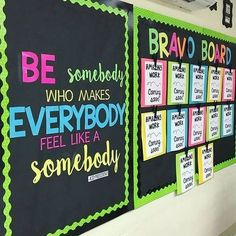 "I love this bulletin board made by @emilythirdandgoal . All students need some inspiration throughout the day. ""Be somebody who makes everybody feel like a somebody!"" -Kid President #earlycorelearning"