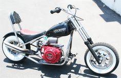 Little BadAss Mini Chopper Motorcycle Mini Chopper Motorcycle, Mini Motorbike, Bobber Chopper, Moto Bike, Motorcycle Bike, Custom Mini Bike, Homemade Motorcycle, Motorised Bike, Power Bike