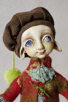 OOAK Art doll ''Little Friend'' by LinaMacijauskieneART on Etsy, $255.00