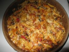 Wasn't expecting much. Needed something easy for dinner. VERY tasty! Spinach and Ground Turkey Casserole!