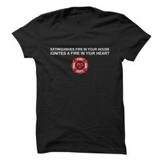 Firefighters ignite fire in your heart T Shirts, Hoodies. Check price ==► https://www.sunfrog.com/LifeStyle/Firefighters-ignite-fire-in-your-heart.html?41382 $19