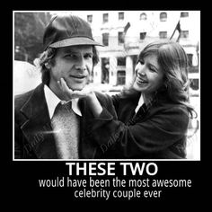 Harrison Ford and Carrie Fisher- or as I like to call them, Han Solo and Leia undercover.