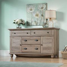 Sauder Harbor View 4-Dresser, Salt Oak. Love the color of this one, too. $229