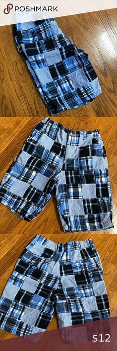 NWT Gymboree Boys Blue Green Elastic Waist Cargo Shorts Size 3-6 M
