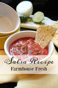 Easy Salsa - Farmhouse Fresh Recipe - FARMHOUSE 40