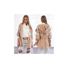Stylish Lady Women's Long Coat Trench Windbreaker Hoodies Outwear (90 HKD) via Polyvore