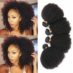 """100g Mongolian Virgin Afro Kinky Curly Human Hair Weave Extensions Weft 8""""-20"""" in Health & Beauty, Hair Care & Styling, Hair Extensions & Wigs   eBay"""