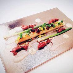 White asparagus and firefly squid by @takamitsu_shimizu #TheArtOfPlating