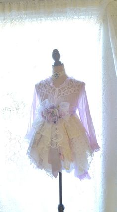Shabby chic clothing, Romantic lagenlook tunic dress, Boho chic dresses, Bohemian tunic, Women's Fashion, True rebel clothing, French lace