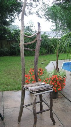 Tree branch chair