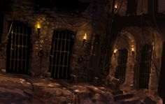 Inspy for Nottingham Castle dungeon scene with Luc and Alex. [Source: Dungeons by Rukkits on DeviantArt