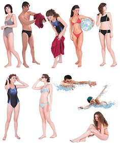 DOSCH DESIGN - DOSCH 2D Viz-Images: People - Beach & Pool