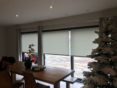 Do you need electric blinds for sliding doors, bifold doors or large glazed area's? Then call us here at Radiant Blinds Ltd we have ultra quiet motors, huge choices of fabrics and all finished off with a powder coated pelmet to hide the blinds when not in use, all operated from an easy to use remote control handset.
