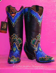 Jaqui bling swarovski cowgirl boots