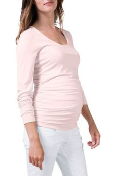 Isabella Oliver Scoop Neck Maternity Tee available at #Nordstrom