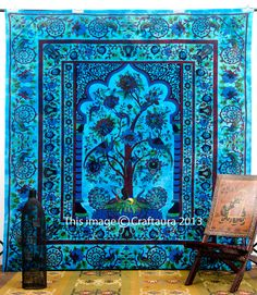 Tree of Life Tapestry Temple Tree of Life Hippie by Sparshh Tree Of Life Tapestry, Mandala Tapestry, Pictures To Paint, Print Pictures, Indian Tapestry, Hippie Tapestries, Bohemian Bedding, Moroccan Design, Hippie Art