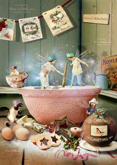Christmas fairy Print ' A dash of by CharlotteBirdfairies