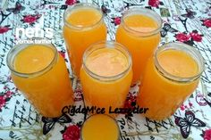 3 Portakal İle 5 Litre Portakal Suyu Yapalım – Nefis Yemek Tarifleri Let's Make 5 Liter Orange Juice With 3 Oranges Party Drinks, Fun Drinks, Beverages, Healthy Eating Tips, Healthy Nutrition, How To Make Butterbeer, Yogurt, Macedonian Food, Homemade Syrup
