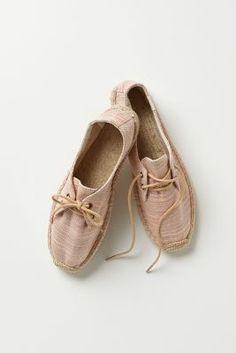 Linen Lace-Up Espadrilles