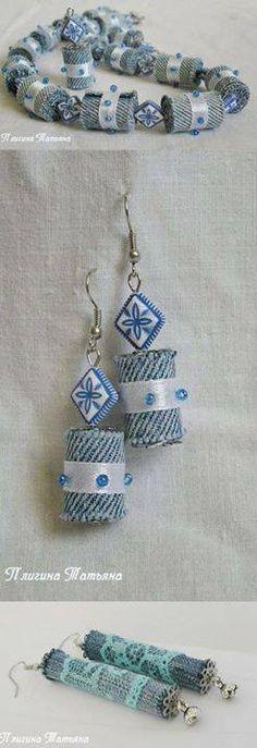 Denim Beads