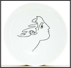 Assiette Visage de femme, de Picasso - La Boutique de la Paix