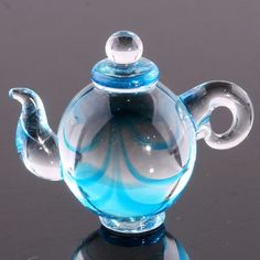 Exquisite Fashion Lampwork Glass Teapot Pendant Bead - Pendants - Jewelry for Wholesale - Free Shipping