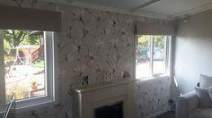 """Saphira"" - Lomasi Wallpapers Romo Wallpaper, Wallpaper Ideas, Timeless Elegance, Contemporary Design, House Ideas, Fabrics, Windows, Wallpapers, Curtains"