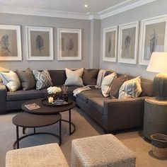 Gray Walls Brown Furniture Living Room Ideas Living Room Room
