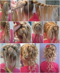 Communie of bruidsmeisjes haar Tuto coiffure