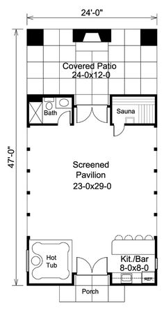Summerville pool cabana plan plan 009d 7524 house plans for Sauna floor plans