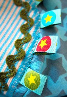 Woven ribbon as label