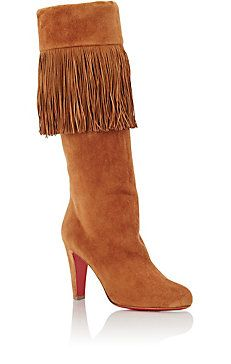 Fringed Majung Knee Boots