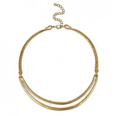 Women's Gold 18k Gold Plated Brass Hammered Collar by Sole Society