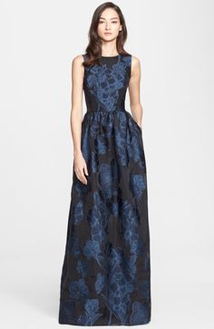 Not affordable, but pretty! St. John Collection Floral Fil Coupé Gown available at #Nordstrom