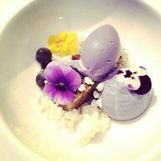 Viola dessert, deconstructed cheesecake