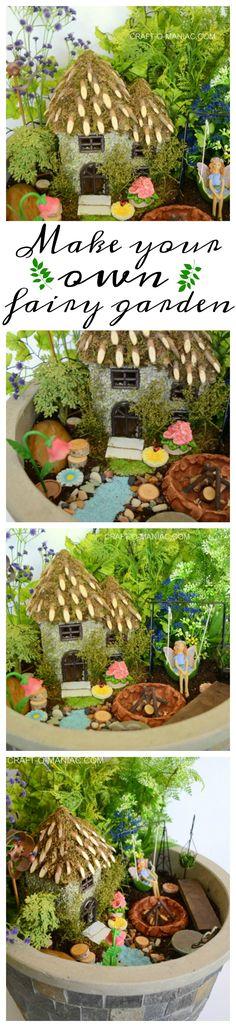 Faux Fairy Garden Planter