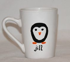 Personalized Penguin Mug - Christmas Gift Mug - Christmas Hostess Gift - Christmas Gifts for Kids - Xmas Morning - Paper Flower Arrangements Paper Flower Arrangements, Paper Flowers, Gifts For Wife, Gifts In A Mug, Penguin Mug, Christmas Gifts For Kids, Etsy Jewelry, Hostess Gifts, Craft Gifts