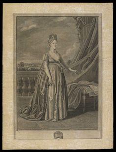 Retrato de Carlota Joaquina de corpo inteiro. Aguilar, Manuel Marques de, 1767-1816.