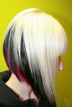 """Képtalálat a következőre: """"peekaboo color short hair"""""""