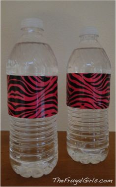 Duct Tape Water Bottles For Your Party
