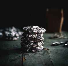 Flourless Mexican Chocolate Crinkle Cookies