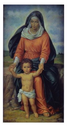 Blessed Virgin Lady with child Jesus.