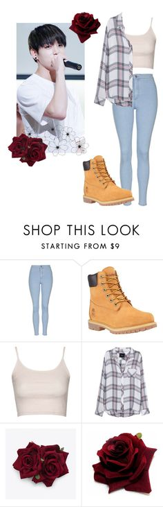 """Only You - Jungkook"" by jiminsbabex ❤ liked on Polyvore featuring Topshop, Timberland and Rails"