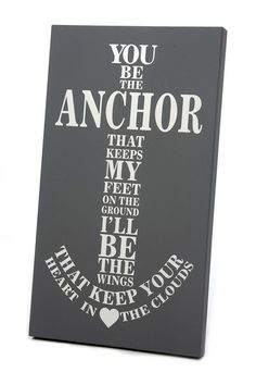 White and Dark Gray Anchor Art Panel by Twelve Timbers on @HauteLook