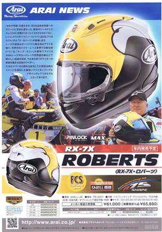 Racing Helmets Garage: Arai RX-7X (RX-7V) Replica Kenny Roberts Senior 2016
