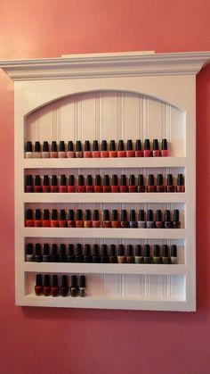 Handmade shelf just for O.P.I. nail polish.