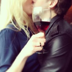 Blurry Sunday Kisses - sapphires and Pinot Noir.