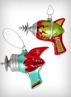 retro ray-gun ornaments