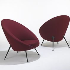 Ico Parisi; Lounge Chairs for Cassina, 1953.